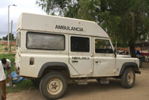 Krankenwagen in Rurrenabaque